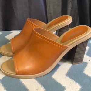 Cognac Leather Mules
